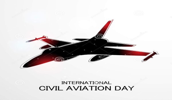 World civil aviation day poster