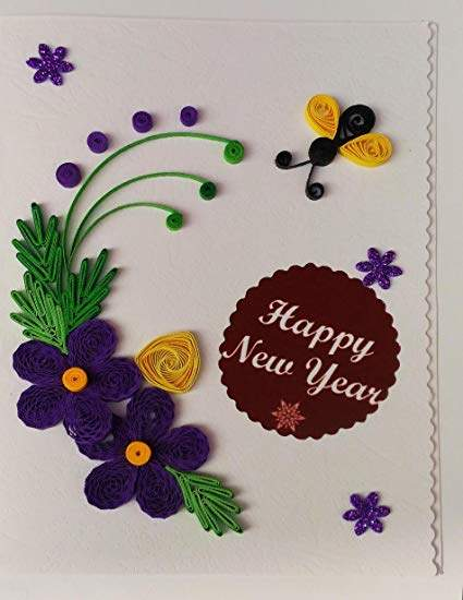 new year card for kid