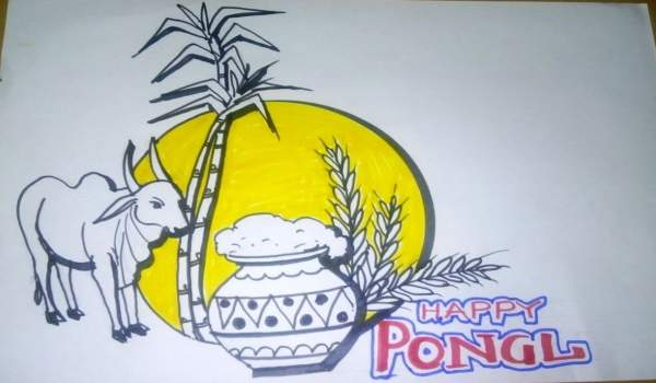 Pongal pictures for drawing