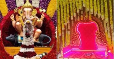 Decoration for ganesh chaturthi