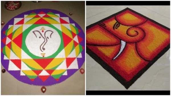 Ganesh Chaturthi Rangoli Design Gallery