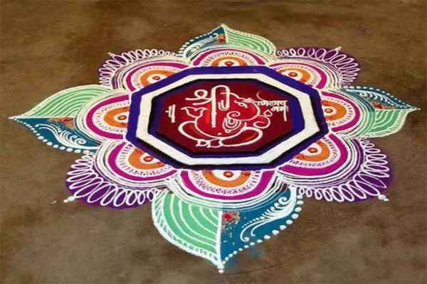 Ganesh rangoli designs for competition