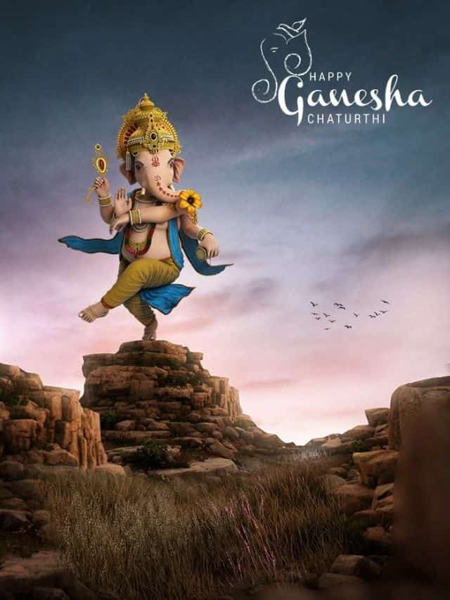 ganesh chaturthi banner editing background