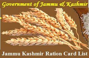 Jammu & Kashmir Ration Card List Download Online