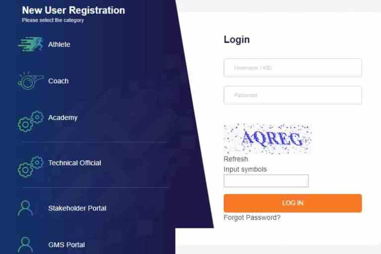 Khelo india registration form