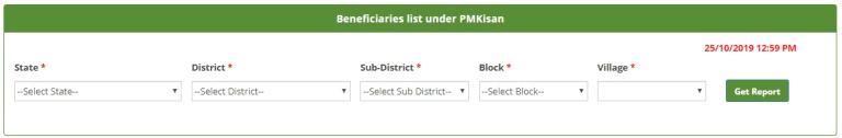 PM Kisan Samman Nidhi Scheme Beneficiary List 2020