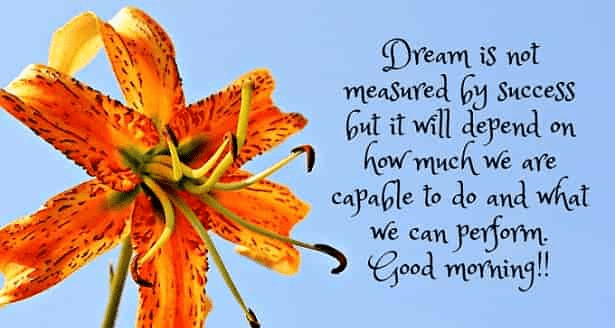 good -morning- dream is not-quotes-