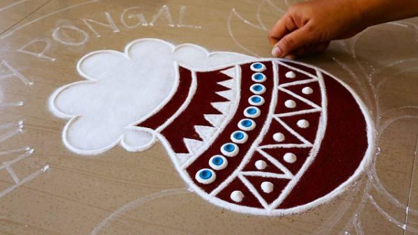 Bhogi Muggulu Designs | Rangoli Design for Decoration