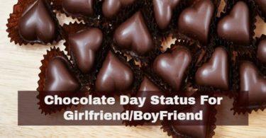 चॉकलेट डे स्टैटस गर्लफ्रेंड बॉयफ्रेंड इमेज