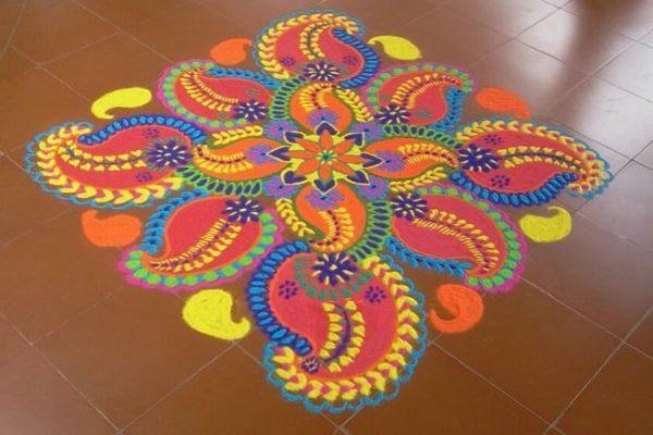 नवरात्री रंगोली की डिजाइन 3
