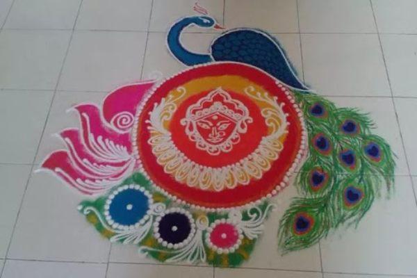 नवरात्री रंगोली की डिजाइन 4