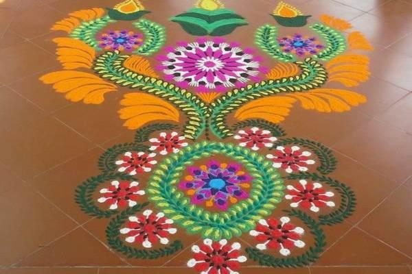 नवरात्री रंगोली की डिजाइन 5
