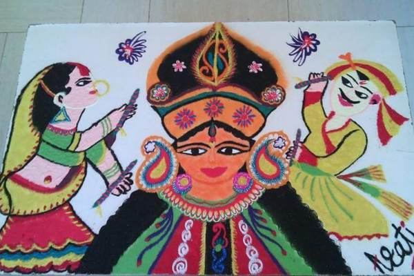 नवरात्री रंगोली की डिजाइन 6