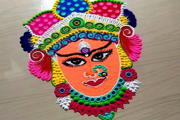 नवरात्री रंगोली की डिजाइन 11