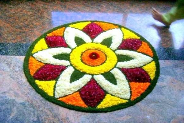 नवरात्री रंगोली की डिजाइन 7