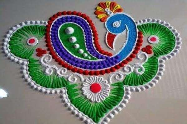 नवरात्री रंगोली की डिजाइन 8