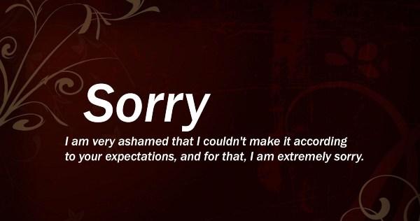 Sorry SMS for Boyfriend