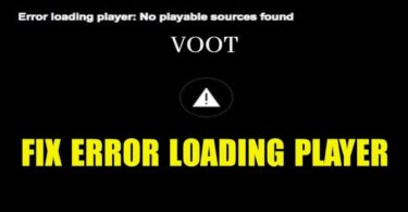 Problem in Voot app