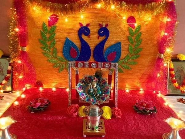 Janmashtami Decoration Ideas light design