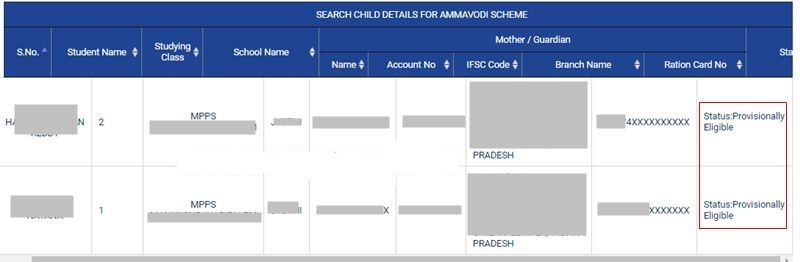 amma vodi list check online status