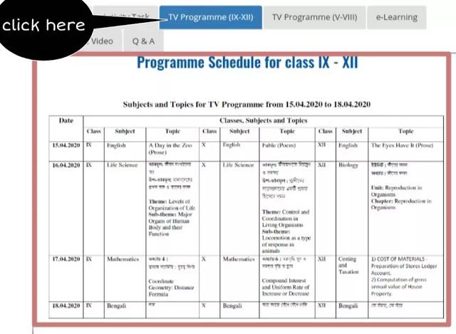 banglar shiksha portal program schedule