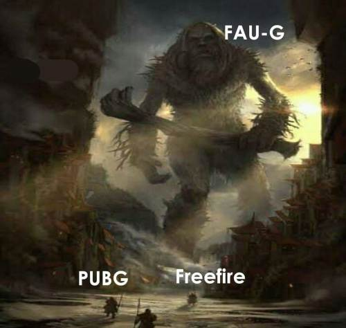 Faug vs Pubg and Free fire meme