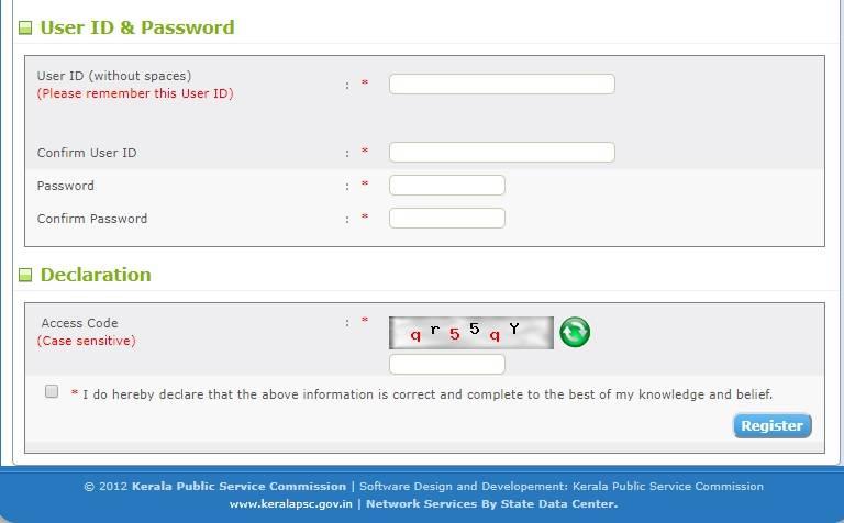 KPSC Thulasi registration Kerala PSC