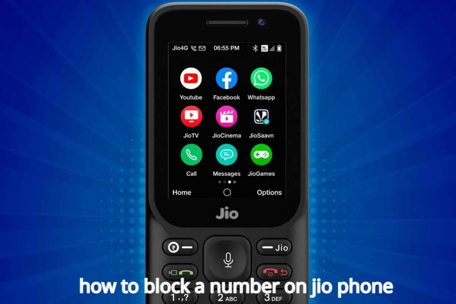 how to block a number on jio phone