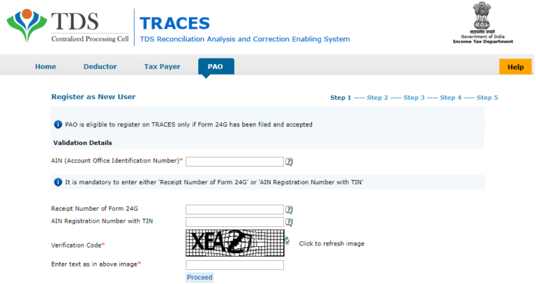 TRACE PAO Registration