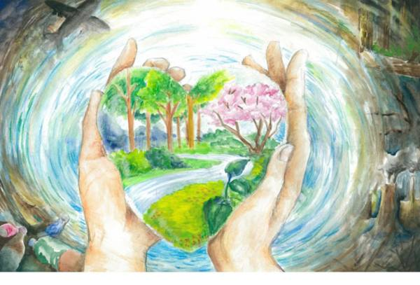 a poster on world environment day