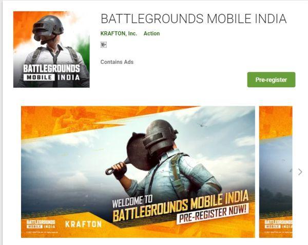 battleground mobile india registration