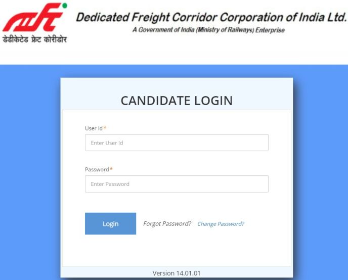 dfccil candidate login