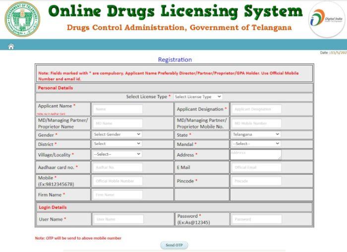odls.telangana.gov.in Registration