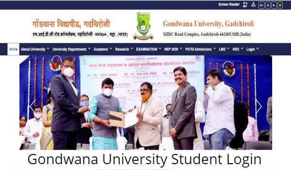 Gondwana University Gadchiroli Student Login