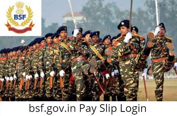 bsf.gov.in Pay Slip Login
