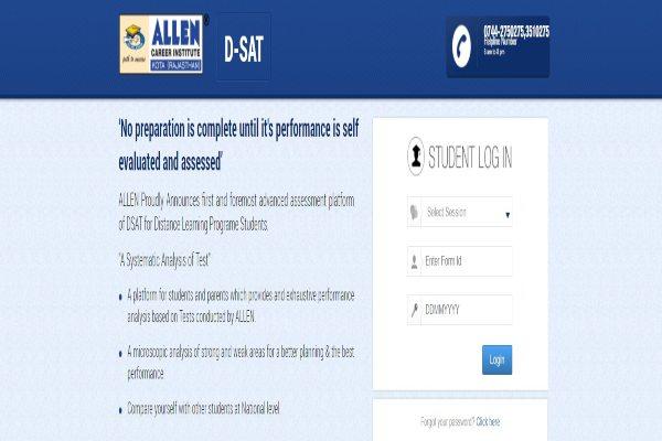dsat.allen.ac.in student login