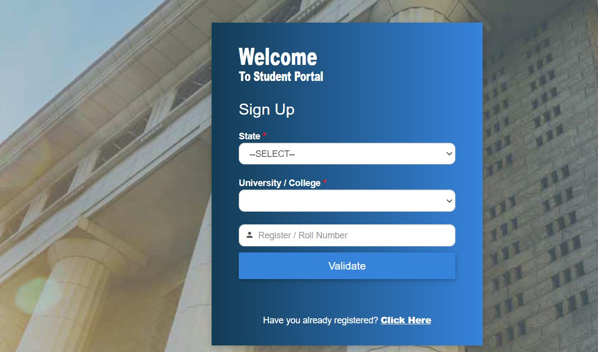 BNU student registration