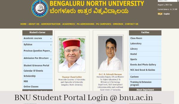 bnu.ac.in student portal