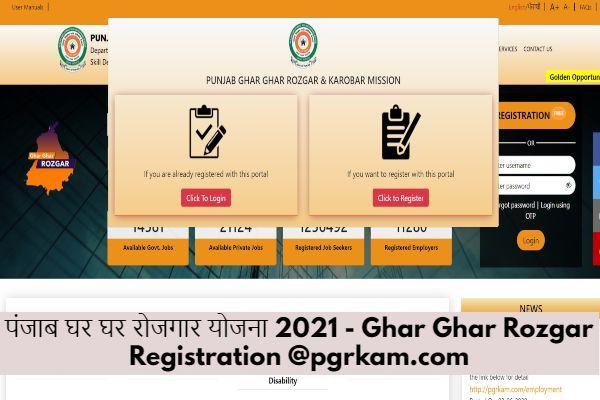 Ghar Ghar Rozgar Registration